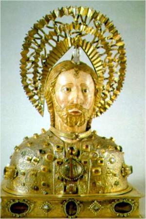 Santiago-Alfeo-Relicario-del-cráneo-en-la-catedral-Compostelana